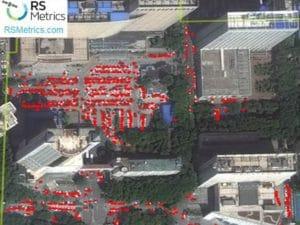 Immagini dal satellite a Wuhan.