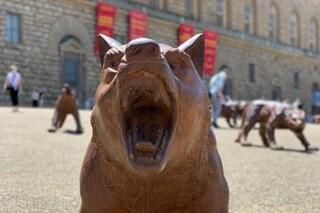 Lupi in arrivo a Firenze: le 100 statue di Liu Ruowang che Napoli aveva adottato