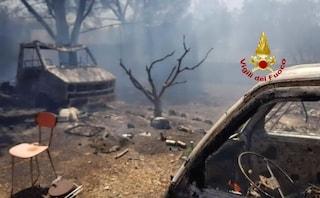 Vasto incendio distrugge le campagne di Uta, famiglie evacuate e animali morti tra le fiamme