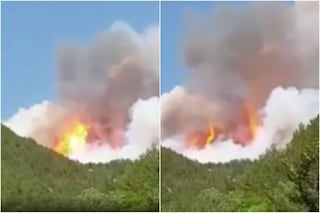 L'Aquila è circondata dagli incendi: oltre 200 ettari di bosco bruciati, ipotesi origine dolosa