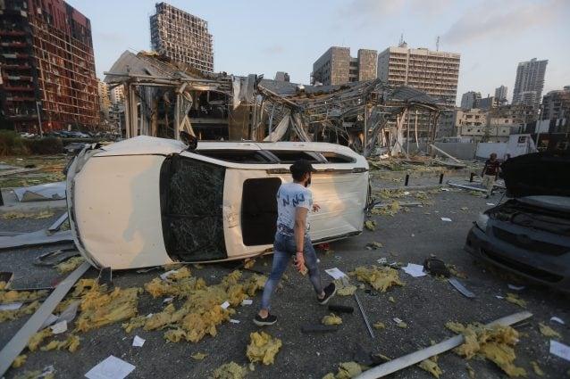 La città di Beirut devastata dopo l'esplosione