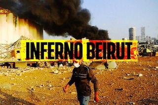 """Inferno Beirut, il ministro della Salute: """"Aria tossica, andate via dalla città"""""""