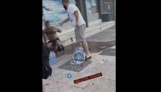 Ustionato con l'acido dalla moglie a Brindisi: il video dopo l'aggressione