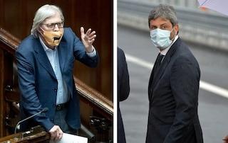 """Sgarbi sospeso dall'Aula se la prende con Fico: """"Grazie insulso, sei un fascistello senza storia"""""""