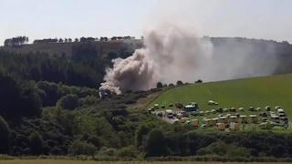 """Treno passeggeri deraglia in Scozia: """"Feriti e motore in fiamme"""""""