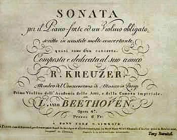 Frontespizio della Sonata a Kreuzer del 1813