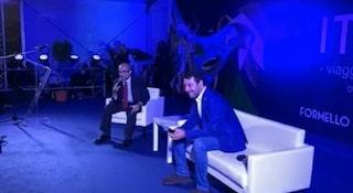 """Matteo Salvini sul palco di Formello: """"Ho un po' di febbre, il medico mi ha detto di stare a casa"""""""