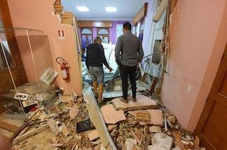 Municipio di Gemmano distrutto da unabomba, rapinatori tentavano assalto al bancomat vicino