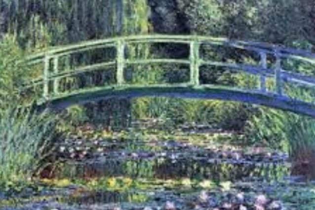 Un frammento dell'opera originale di Claude Monet