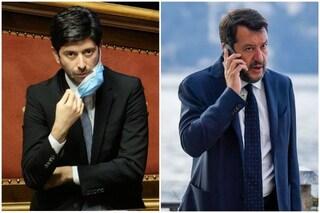 """Salvini attacca il governo: """"Hanno taciuto i rischi sul Covid"""". Speranza replica: """"Leader piccolo"""""""