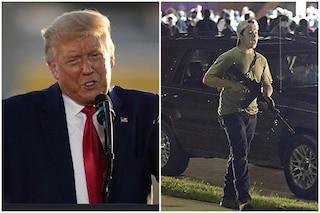 """Trump difende il 17enne che ha ucciso due manifestanti a Kenosha: """"Lo avrebbero ucciso"""""""