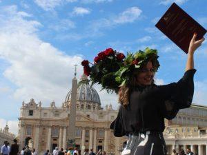 Veronica D'Ascenzo il giorno della sua laurea