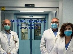 In foto da sx il dott. Santoro, il prof. Musto e la dott.ssa Carluccio.