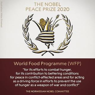 World Food Programme ha vinto il Premio Nobel per la Pace 2020