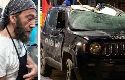 """Con la ruspa contro i carabinieri: ex cuoco di """"4 Ristoranti"""" rischia 7 anni di carcere"""