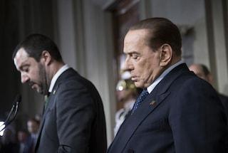 """Berlusconi: """"Senza me centrodestra non può governare"""". Renzi: """"FI si allontani da Salvini e Meloni"""""""