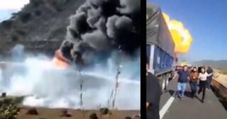 Dramma in Messico, autocisterna carica di gas  si ribalta ed esplode: 14 morti carbonizzati