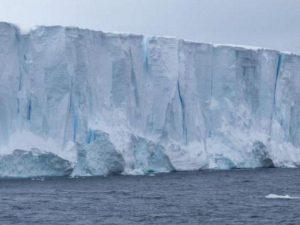 Un gigantesco iceberg rischia di schiantarsi sulle coste della Georgia: a rischio gli animali