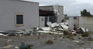 Tromba d'aria a Galatina: capannoni scoperchiati e muri divelti, danni ingenti