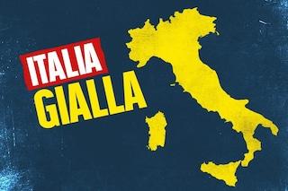 Da lunedì quasi tutta l'Italia in zona gialla: in arancione solo Sardegna, Sicilia e Valle d'Aosta