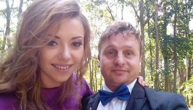 Madalina, 32 anni, con il marito Adrian Luminita, 39, femminicida