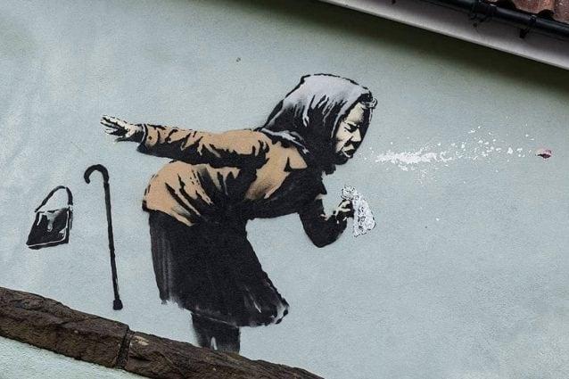 Banksy, ultima opera: Covid e arte a Bristol