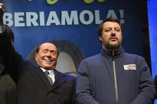 """Salvini spegne l'entusiasmo di Berlusconi: """"No a partito unico del Cdx, non interessa a nessuno"""""""