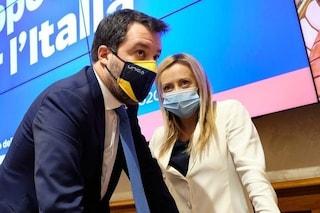 Il centrodestra è diviso su Speranza e coprifuoco, è botta e risposta tra Meloni e Salvini
