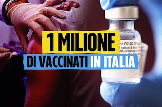 In Italia sono state vaccinate 1 milione di persone contro il Coronavirus
