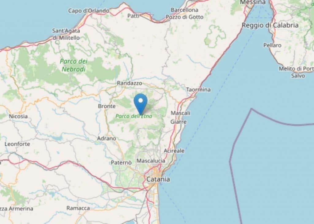 La mappa dell'Ingv del terremoto delle 18.47