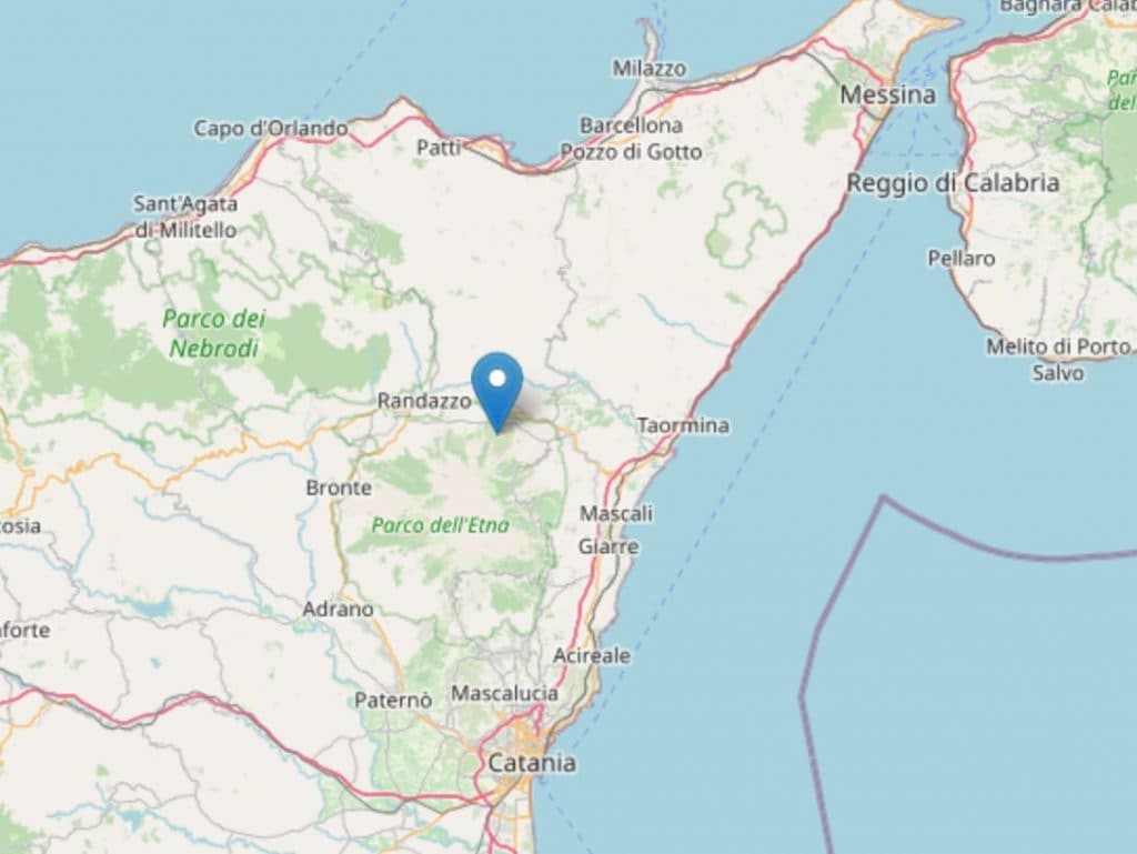 La mappa del terremoto delle 16.21