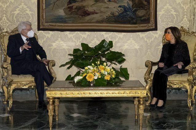 Il Capo dello Stato Sergio Mattarella e la Presidente del Senato Elisabetta Casellati