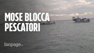 """Venezia, pescatori intrappolati dal Mose: """"Pessima comunicazione, così non va proprio"""""""