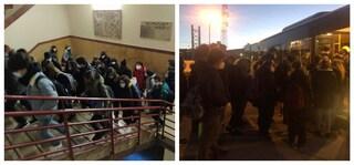 Riapertura scuole: mezzi pubblici ancora strapieni e assembramenti in tutta Italia
