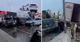 USA, mega tamponamento, almeno 100 auto coinvolte: morte tre persone, molti feriti