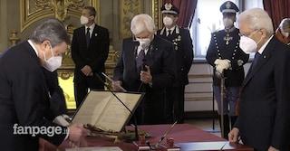 Mario Draghi ha giurato al Quirinale come presidente del Consiglio