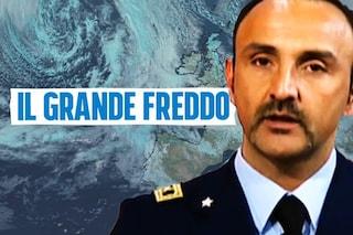 """Meteo, colonnello Guidi: """"In arrivo i giorni più freddi dell'anno, Italia divisa tra gelo e neve"""""""