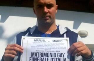 Manifesti funebri durante unione civile gay a Cesena, condannato ex leader di Forza Nuova