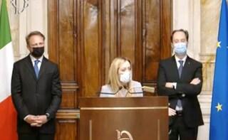 """Meloni: """"Nostra opposizione patriottica, Draghi ha già iniziato a leggere i nostri dossier"""""""