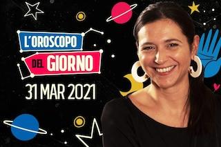 L'oroscopo di mercoledì 31 marzo 2021: Cancro e Pesci hanno un sesto senso formidabile