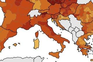 Emilia-Romagna in zona rosso scuro con le province di Trento e Bolzano: la mappa Ue aggiornata