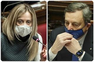 """Meloni contro dpcm Draghi: """"Si poteva fare decreto legge, grave limitare così libertà persone"""""""
