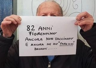"""""""A 82 anni ancora non vaccinato"""", la protesta social di nonno Pierdomenico"""