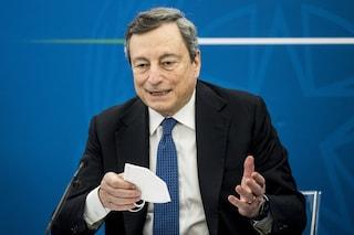 """Draghi alle Regioni: """"Raggiungeremo l'immunità di gregge nel mese di luglio in tutta Europa"""""""