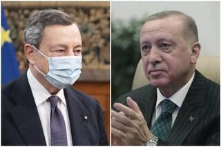 Draghi telefona a Erdogan: c'è preoccupazione per la tutela dei diritti umani in Turchia
