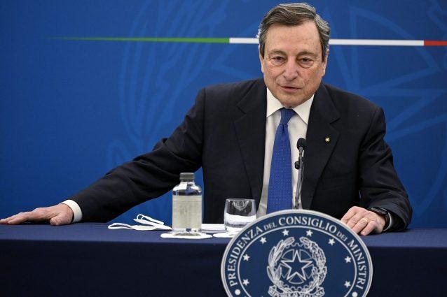 Draghi oggi in conferenza stampa sulle riaperture dal 26 aprile