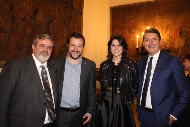 Salvini e Isoardi con il segretario Ugl Capone