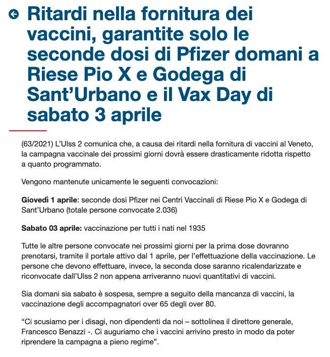 Fonte: Regione Veneto