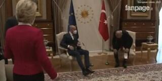 Erdogan riceve Michel e von der Leyen, ma lascia la presidente della Commissione senza sedia