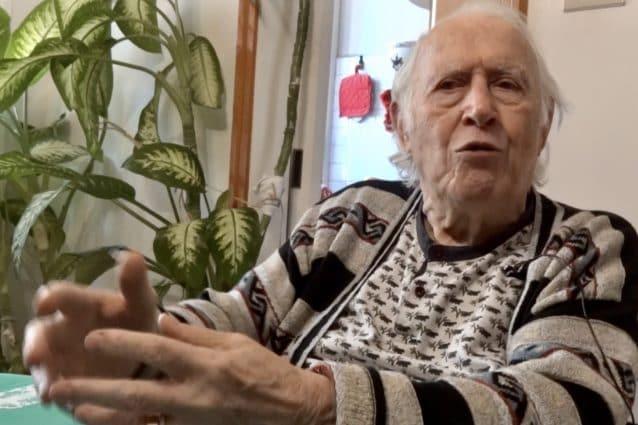 """Renato Romagnoli, alias """"Italiano"""" nella sua casa a Bologna"""